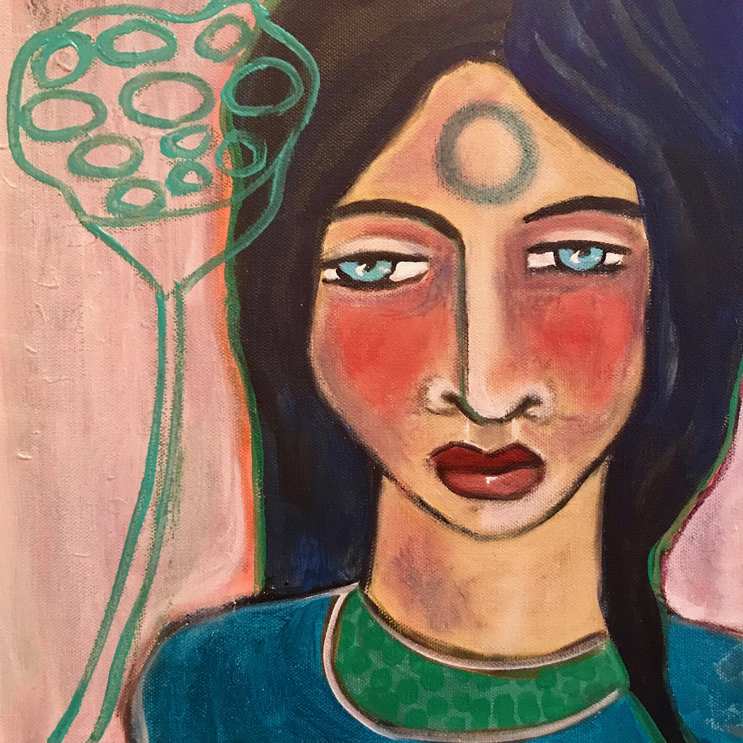Padma    12 x 12    Acrylic on Canvas
