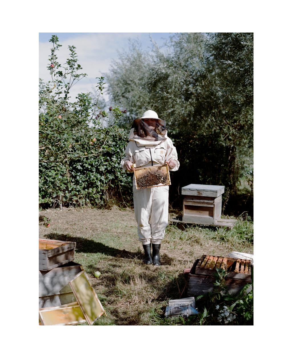 Beekeeper, Cotswolds, UK.