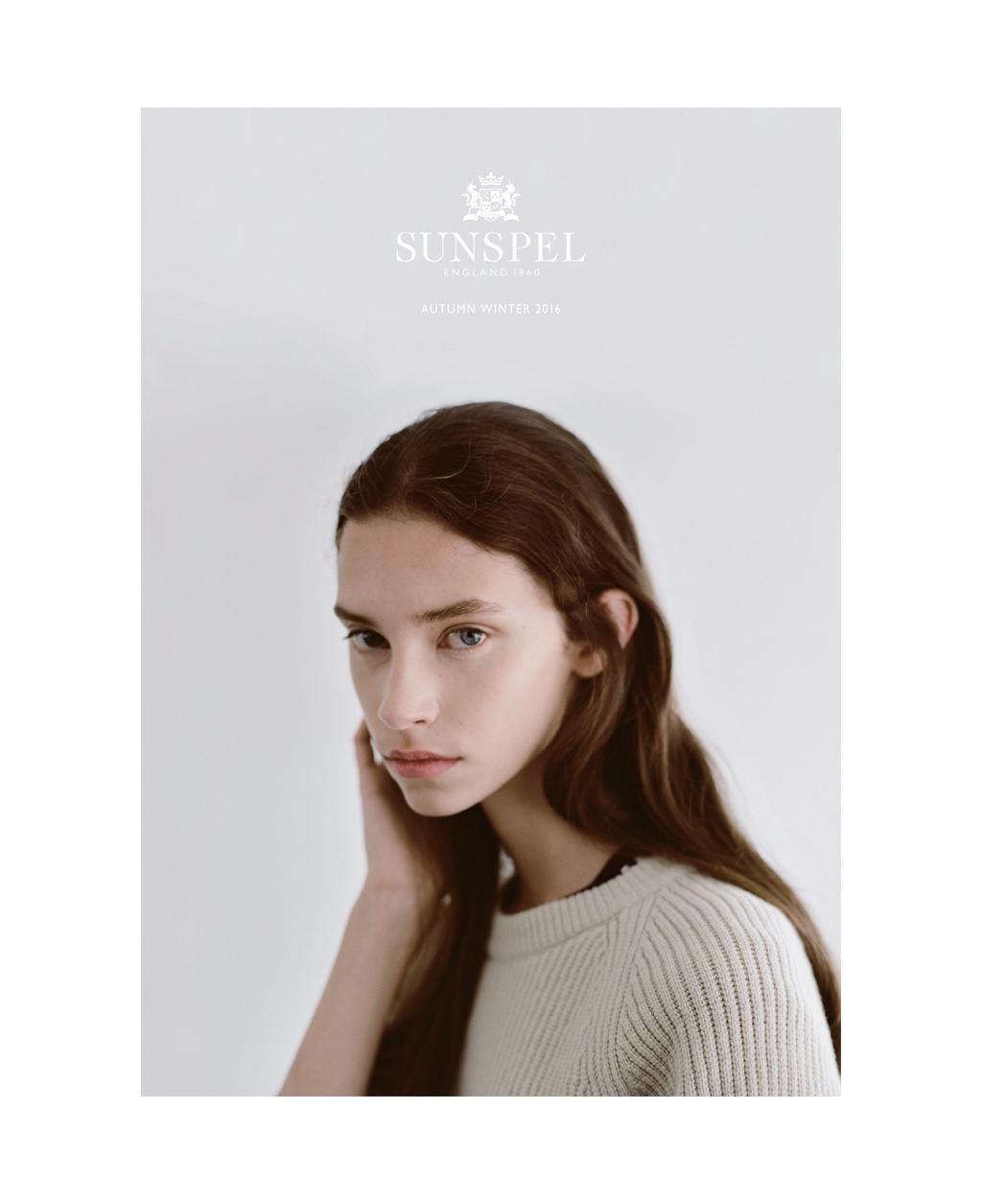 Sophia for Sunspel AW16.