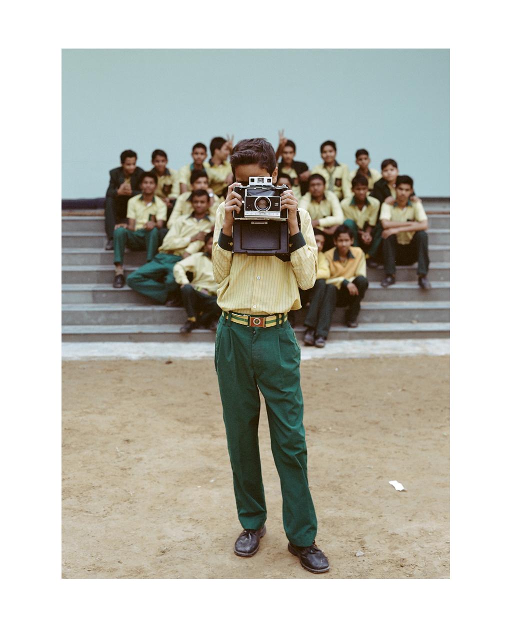 Photography students, Good Samaritan School, Delhi, India.