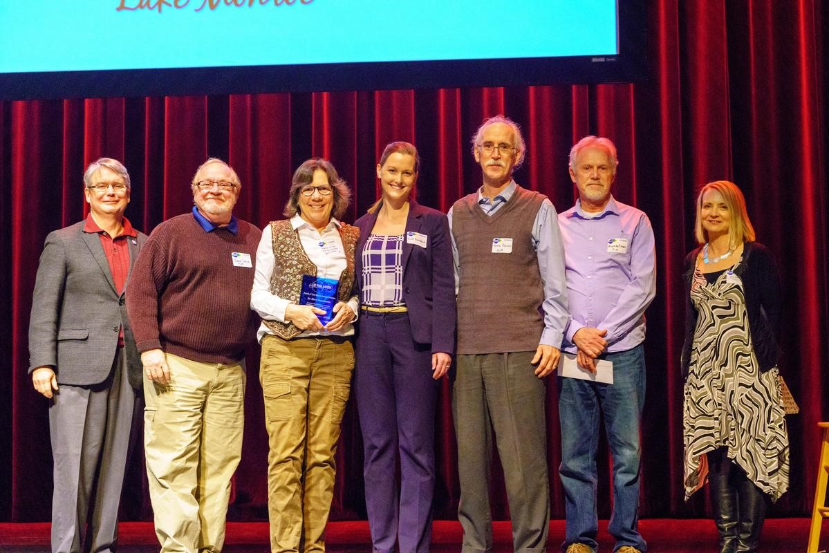 Steering Commitee Members receiving their award at the BE More Awards Ceremony on March 27th. (Left to right: Mayor John Hamilton; SC Members: Dave Simcox, Sherry Mitchell-Bruker, Lily Bonwich, Kevin Dogan, Richard Harris; and CFBMC CEO Tina Peterson)