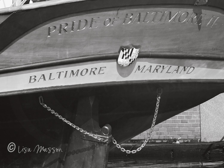 Pride of Baltimore ll Stern 8381 b&w