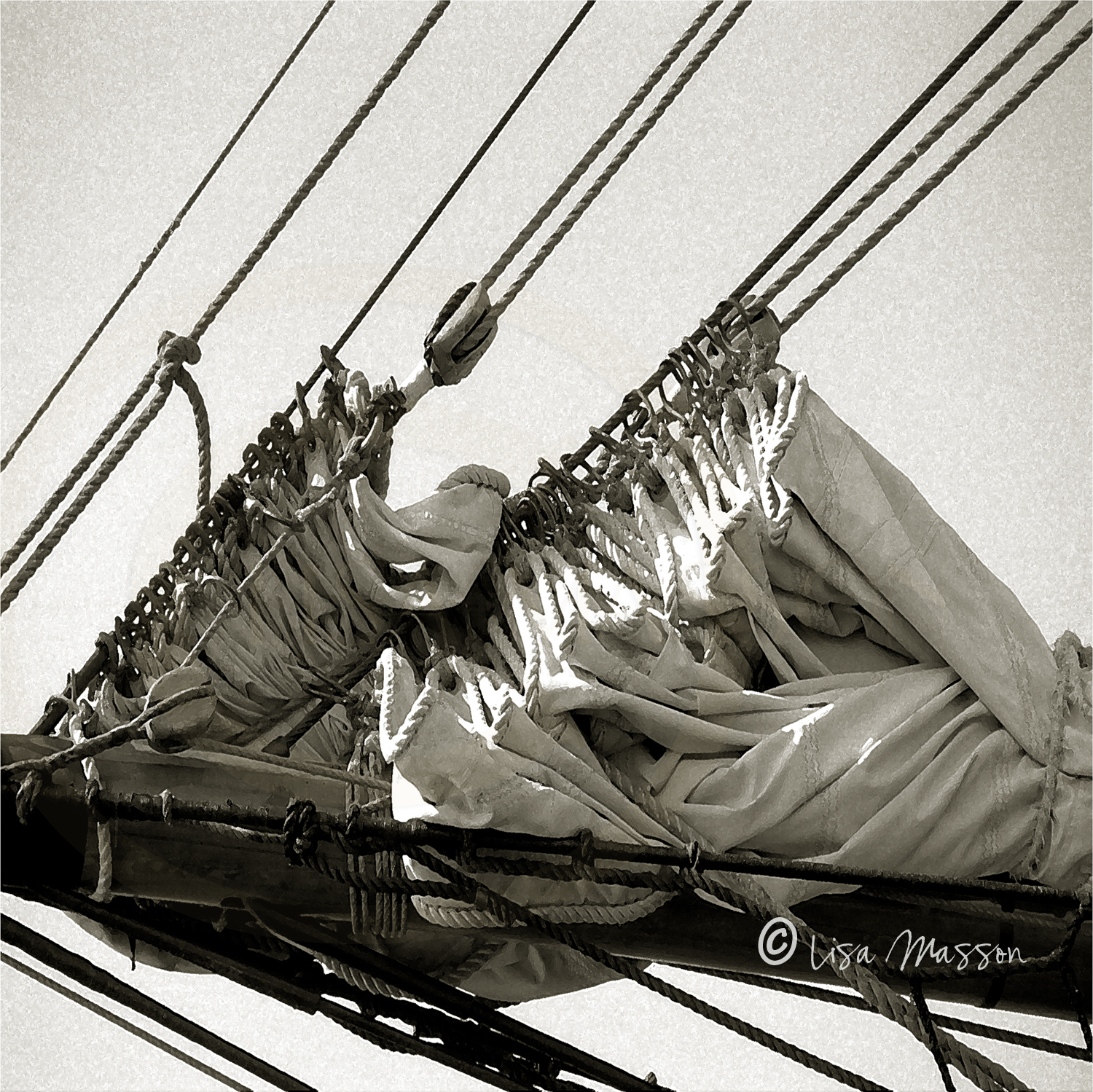 Pride of Baltimore ll Flaked Sails sepia