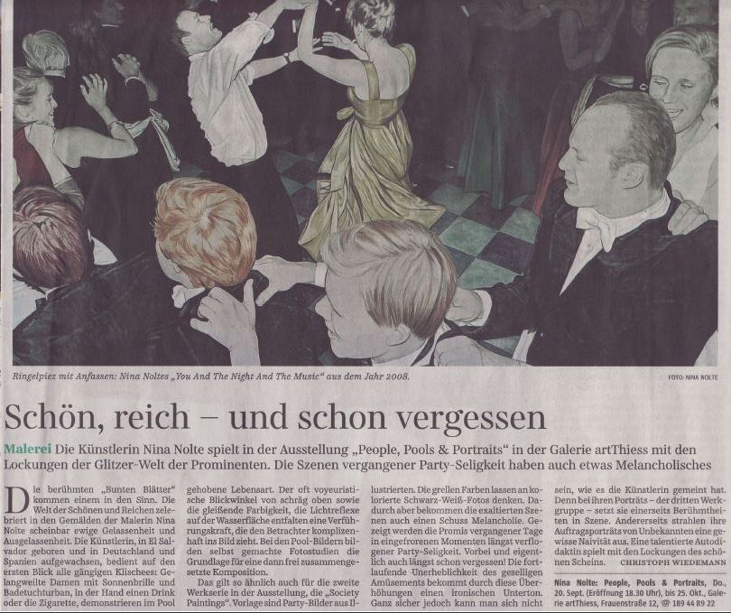 Süddeutsche Zeitung - The 20th of September 2012 , Night and The Music appears in an article published by The Süddeutsche Zeitung