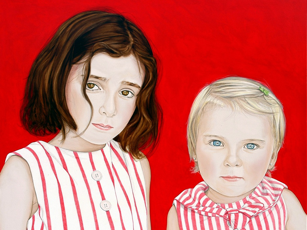 "Miranda and Gloria - Acrylic on canvas125 x 140 cm (49 x 55"")"