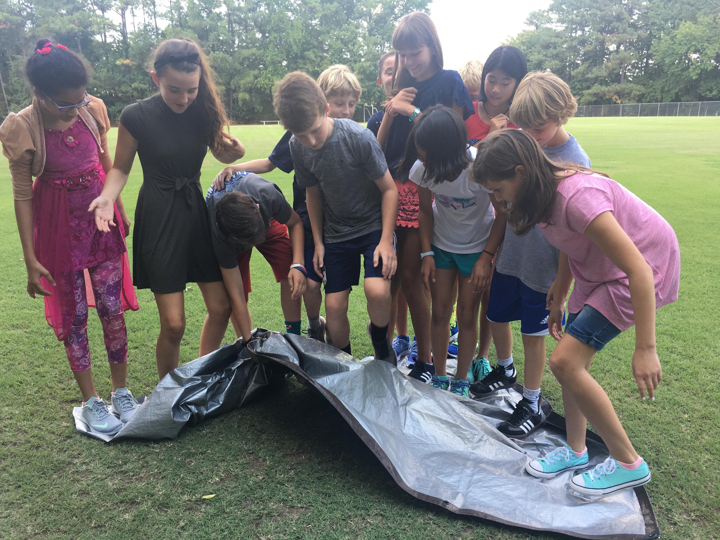 Sixth grade advisories solve the Magic Carpet Challenge