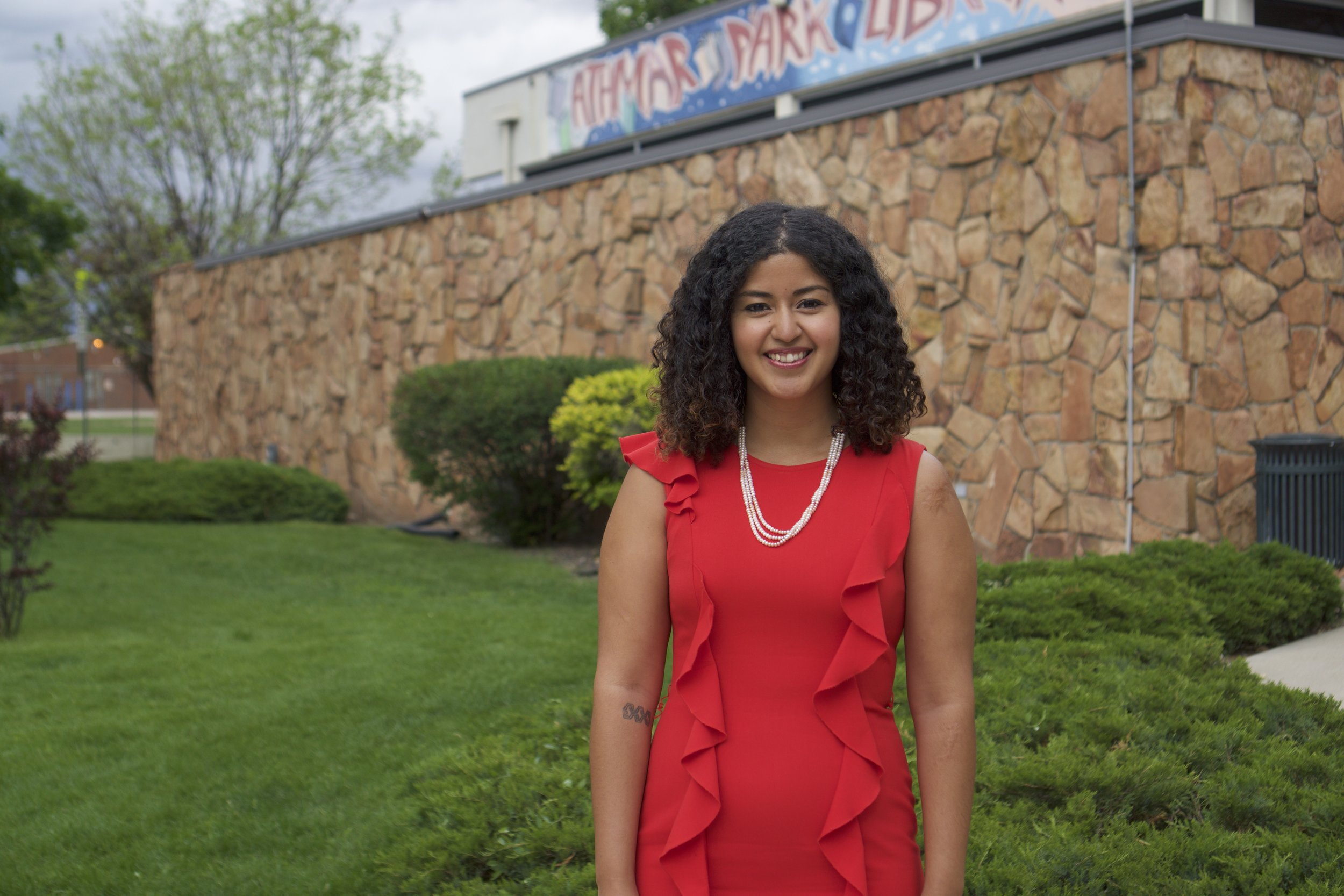 Angela Cobián, community organizer, Fullbright Scholar, school board candidate for DPS, and July's Broad of the Month.