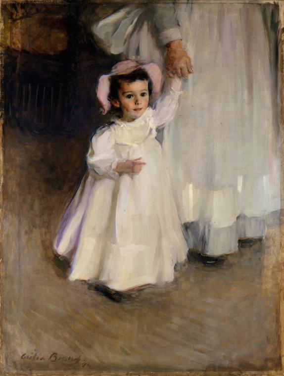 Cecilia Beaux,Ernesta (Child with Nurse), 1894. Oil paint on canvas. PC: DAM website.
