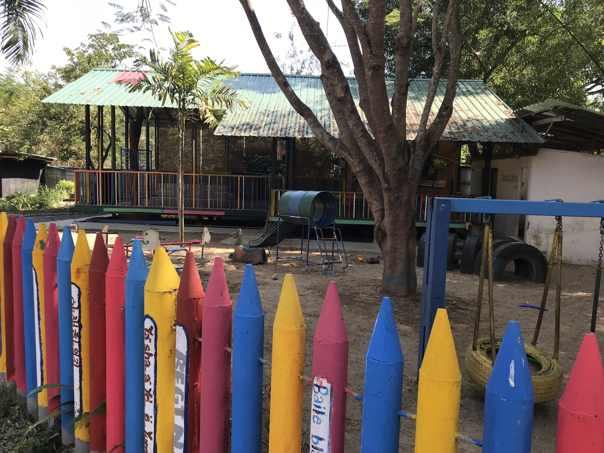The play area at Wildflower Home.