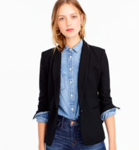 Denim can do the trick for interviews, too. Just remember the three-piece rule.