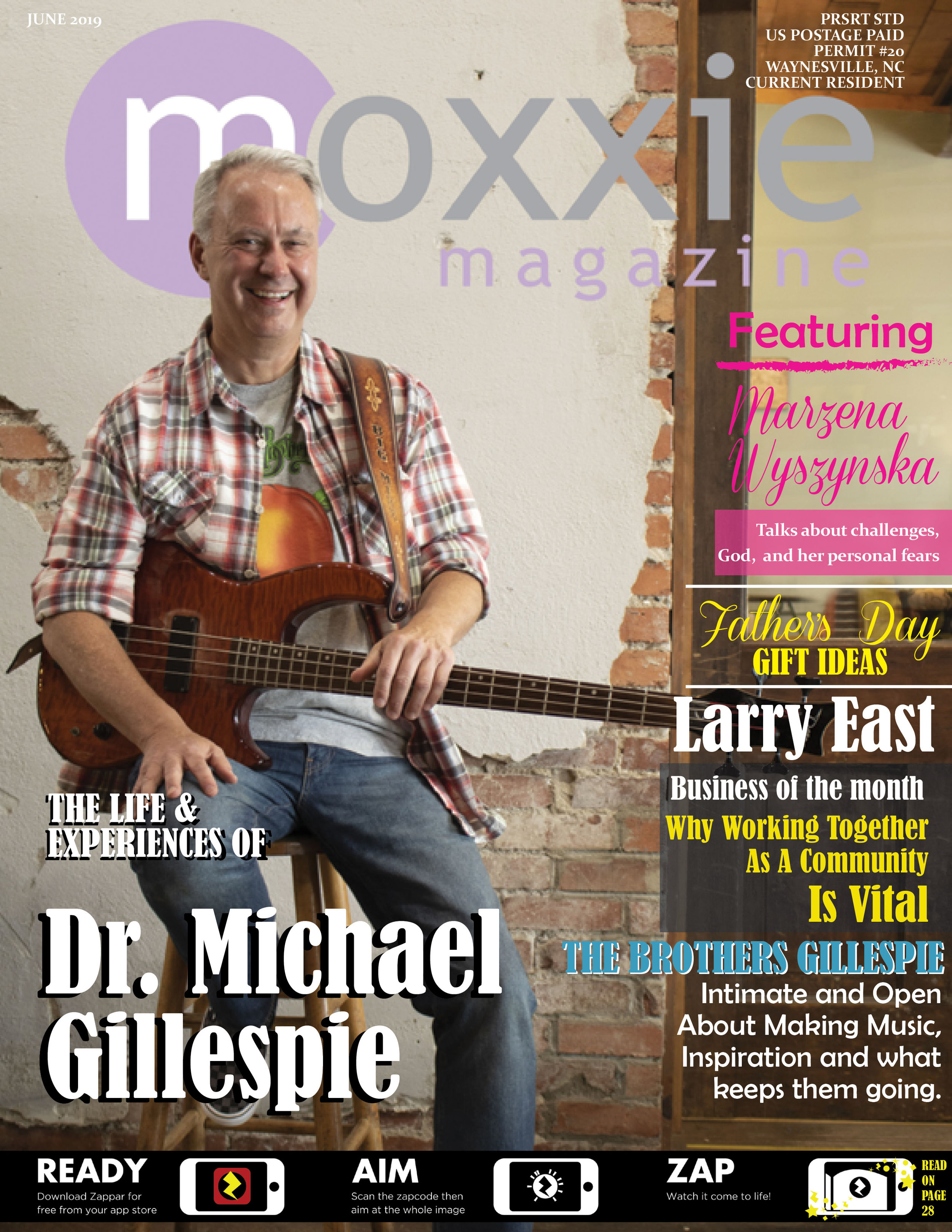 June 2019 - Dr Gillespie shares stories with Moxxie!She's Got Moxie is Marzena..a must read!Don't forget to enjoy the Augmented Reality!