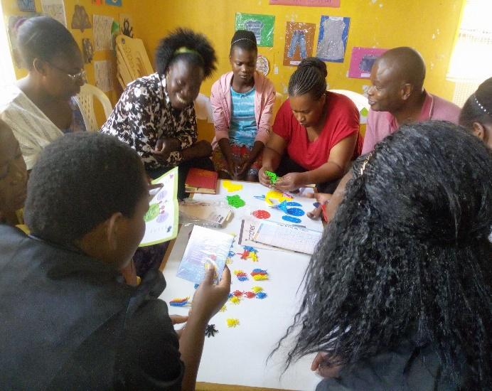 Janet providing a Child Protection       Training at Kiambio Slums
