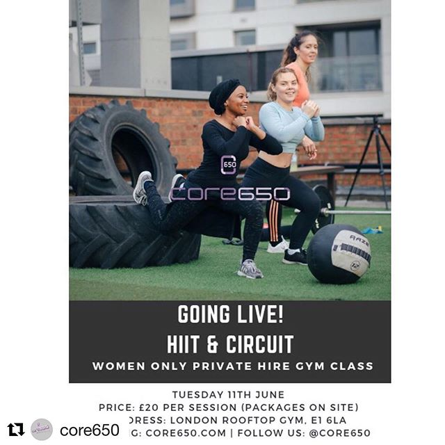 NEW women only class @londonrooftopgym! Repost @core650: ・・・ Gym fully Private Hire Women Only👑 • @ 6:30pm @londonrooftopgym Shoreditch! • Single session £20 NOW Packages available X2 sessions per week! 🔥🔥🔥#GETRESULTS • Train with us you will get results! Stay motivated! Will turned to be disciplined and to stay consistent! • More guidance on fitness and health goals please DM us ladies! . . . . #wearelive  #londonfitness #womenonly  #londonwomen  #hiitclass  #privategym #functionaltraining  #motivationgym  #ramadanfitness  #weightloss #womenonly  #onlywomen  #forwomenonly  #forwomen #gymmotivation #hiitworkout #healthylifestyle #personaltraining #weighttraining #crossfitwomen  #ladiesfitness #womenfitness  #wednesdaymotivation  #wednesdayworkout #womenwinningwednesday