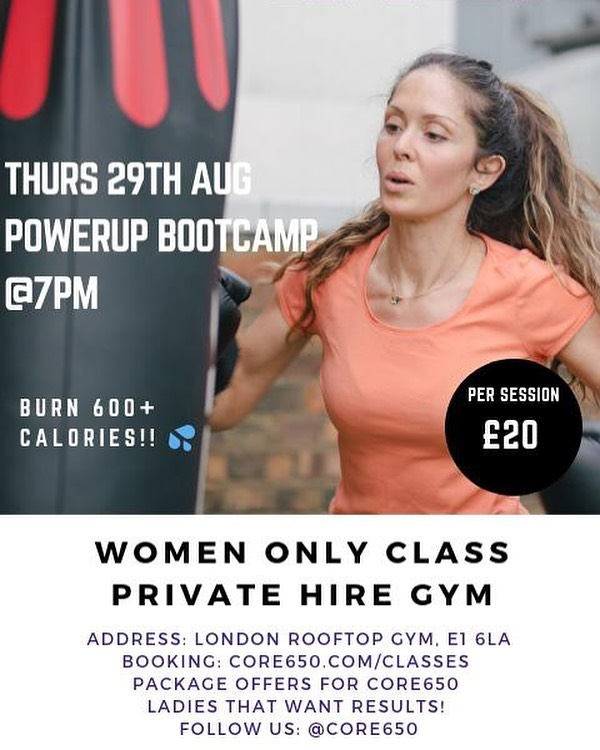 Get yourselves booked in with @core650 for women only Bootcamps every other week! 💪❤️ - #bootcamp #londonrooftopgym #londonbootcamp #fitnessclass #groupclass