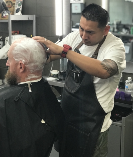 Edwin - I proudly served 6 years in the Marine Corp. After my service I found myself working in a field I didn't have passion for, that was when I decided something had to change. I began barber school and never looked back! I love my craft, and have found the passion I was searching for. When I am not behind the chair, I am a full time business student, and enjoy time with my wife and kids!