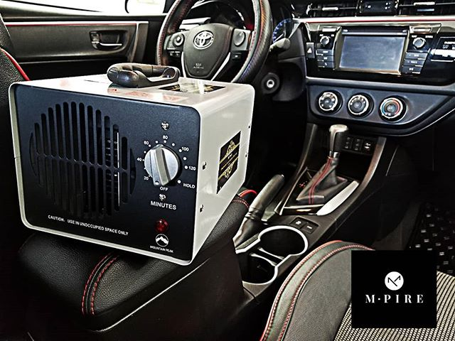 Got odours🤢? Let M-pire treat your ride with our air purification ozone generator. From smoke to B. O., pets and more.  Ozone, being one of natures most powerful oxidizing (odor removing) agents, attaches to airborne pollutants, and through the process of oxidization, breaks down the molecular structure and neutralizes, or destroys, the odor producing pollutant. This is the same process found in nature to clean and purify the air.  Extremely effective on smoke damage, pet odors, pesticides, cleaning fume odors, cigarette smoke, mold, mildew, paint odor, cooking odors, water damage, decaying material and more.  Book today at info@m-pire.ca. 🤙💪 #m-pire.ca #autodetailing #winnipeg #manitoba #cars #imports #shine #detailing #winnipegcars #devilsinthedetails #dealerships #winnipegdealerships #autos #forsale #odourelimination #petodour #smoke #cigarettesmoke #odour #ozone #o3 #shampoo #stinky
