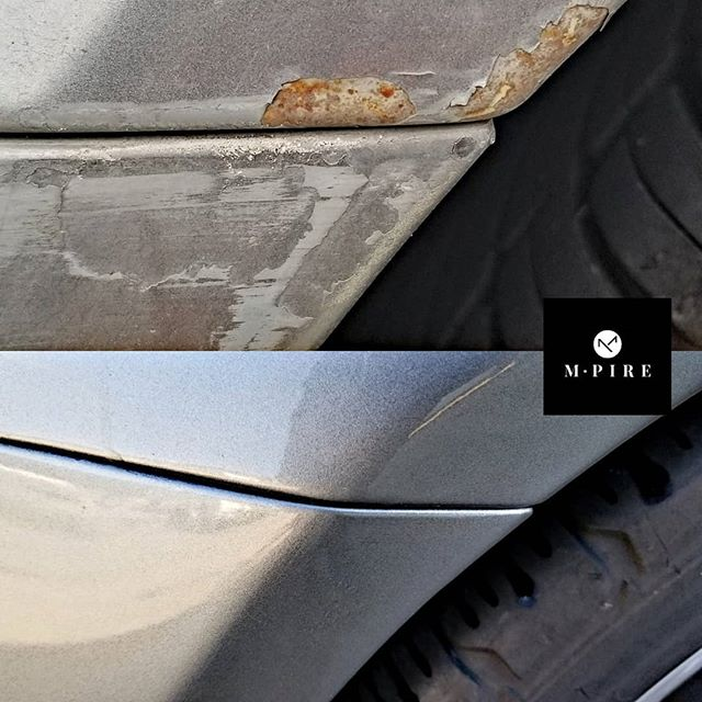 Here's a little before and after rust and scrape damage repair. This customer unfortunately scraped the side of her garage backing out. M-pire took care of her. Got rust? Book today at info@m-pire.ca #m-pire.ca #autodetailing #winnipeg #manitoba #cars #imports #shine #rust #paint #repair #bodywork #winnipegcars #dealerships #winnipegdealerships #infinity #g35coupe