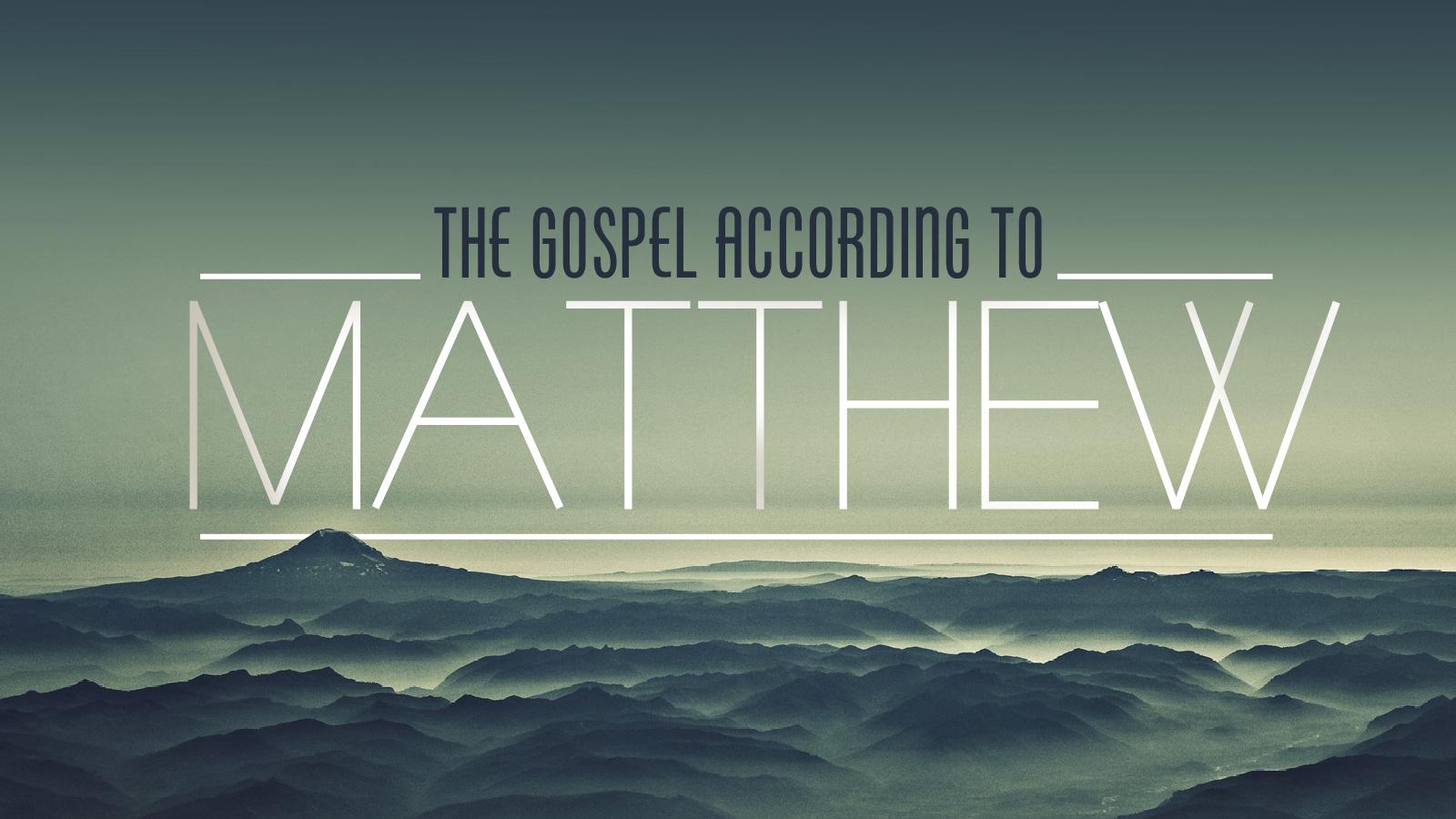 Matthew Sermon Series at The Mission Church in South Jordan Utah