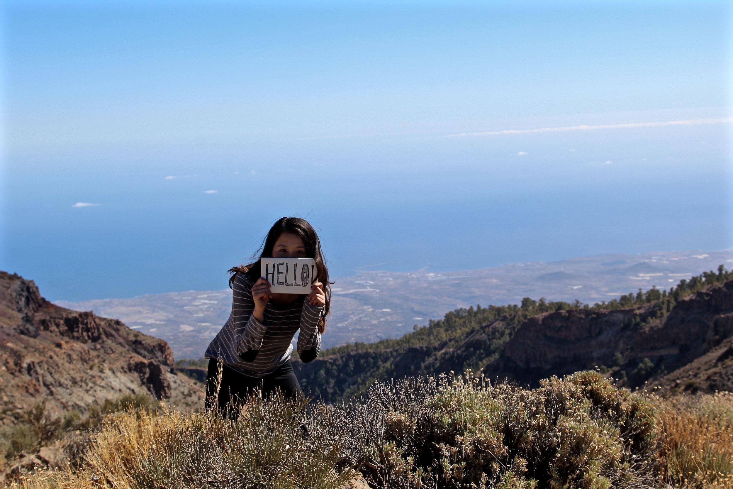 Hello from Tenerife