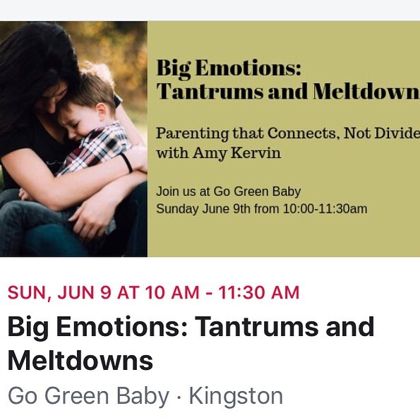 In this follow-up workshop to PARENT EMOTIONS, we will tackle the topic of toddler emotions. BIG EMOTIONS: TANTRUMS & MELTDOWNS will explore why tantrums occur, how they can serve as an important part of healthy emotional development, and how the way we respond can either help cultivate self-regulation and resiliency in our children or impede it. ⠀ ⠀ The goal of this workshop is to provide an opportunity for parents and caregivers of young children to learn how to best support children through this important developmental stage, and discuss parenting concerns in a safe and supportive environment. PRE-REGISTRATION REQUIRED (see below for registration details). SPACE LIMITED.⠀ ⠀ *Update: This workshop is now FULL. To be added to the wait list, please email info@go-greenbaby.ca