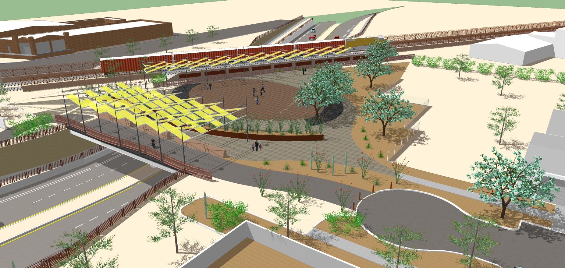 A rendering of the Deck Park