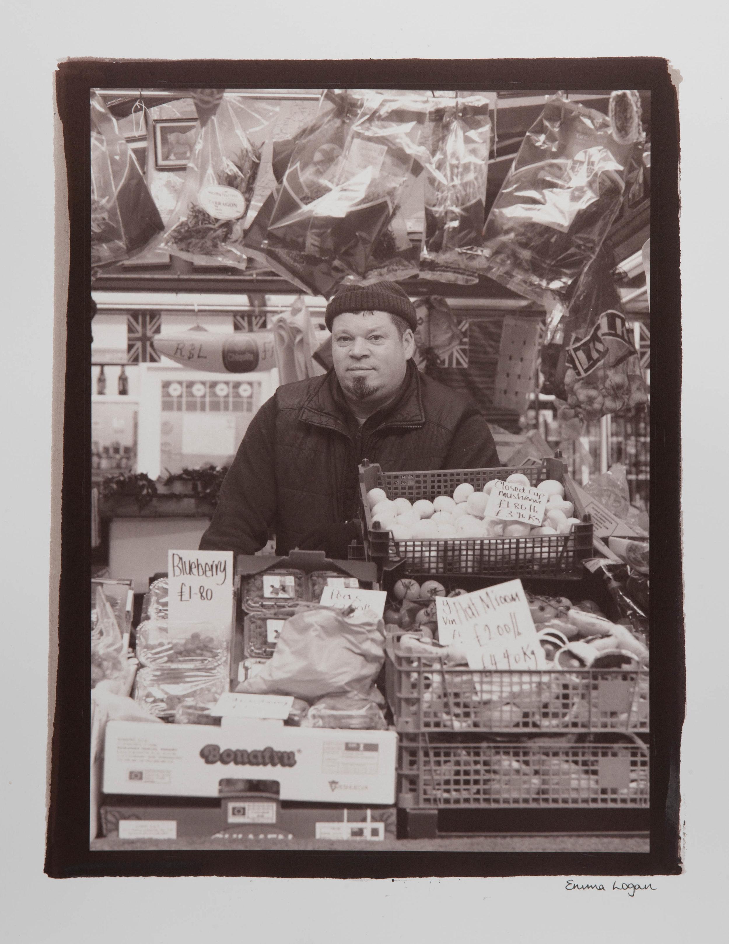 "The Derby Market Hall.Digital Negative Salt Prints. Original size - 16x20""."