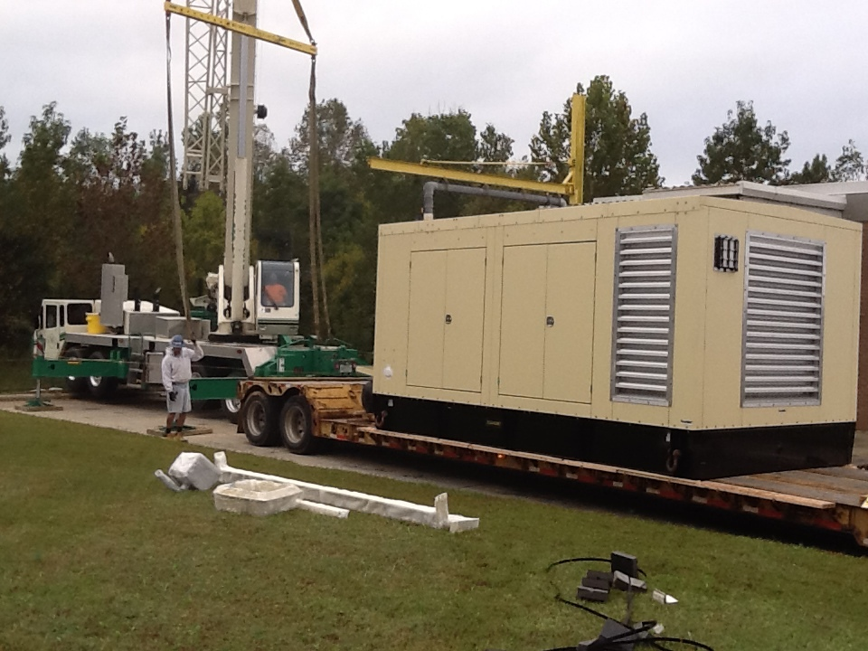 Crowders Creek WWTP - Replaced 400kW Generator.
