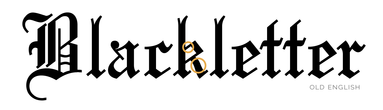 Blackletter fonts are one of the first fonts ever invented. | What the helvetica? | All up in your typeface | How well do you know your fonts?