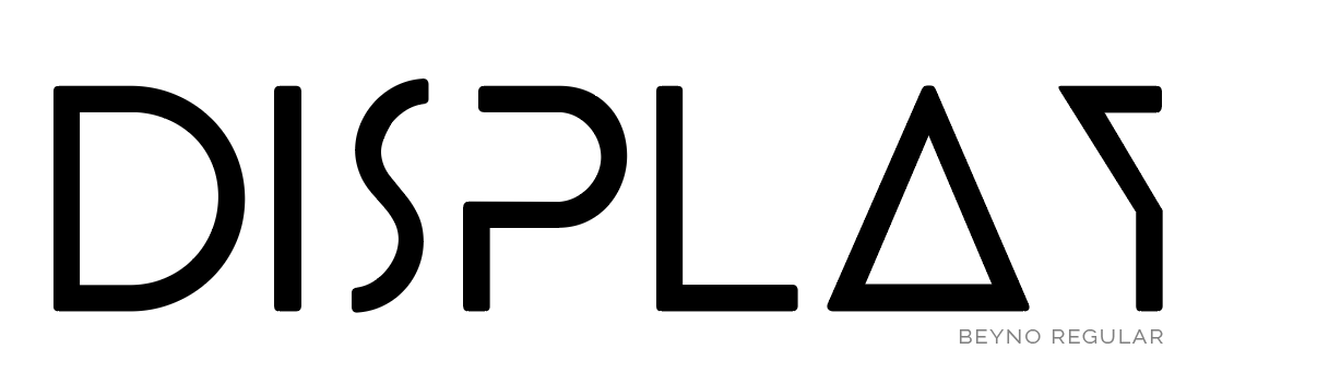 Display font without serifs