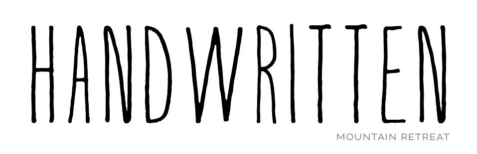 Example of a handwritten font.