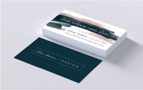 business card design, set up, and printing by The Look & The Feel