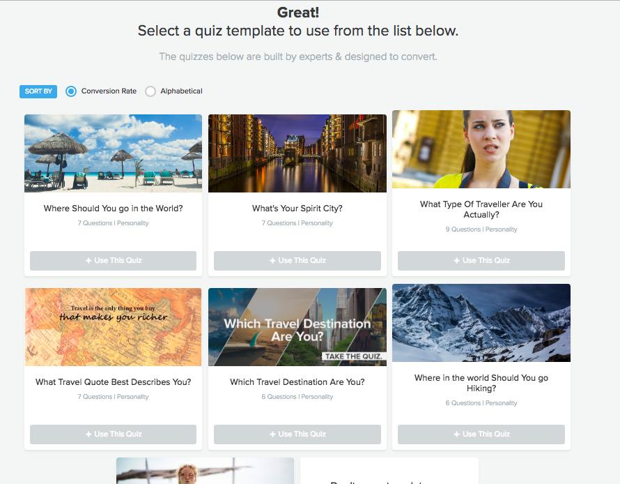 choose interact quiz template