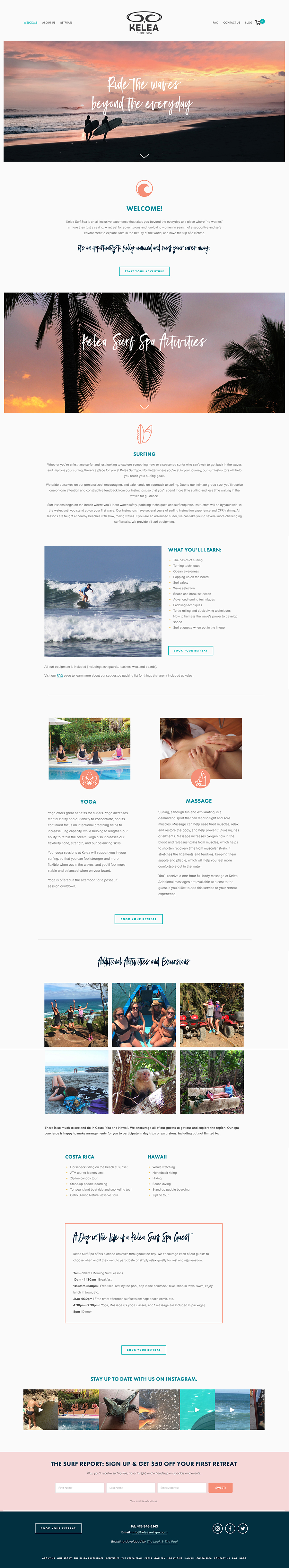 Kelea Surf Spa Website