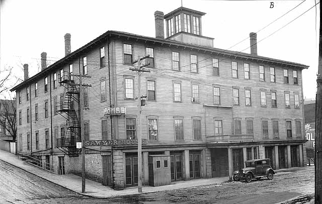 The Year is 1924, just before the Sawyer House was torn down. The location was on the Northwest corner of 2nd Street and Myrtle. The structure was built in 1861 from lumber slabs milled in Stillwater. Photo credit, Mr. John Runk, courtesy of The Washington County Historical Society.   To view another earlier time at this same location, just Click or Tap the photo above. Enjoy your trip back to another time in Stillwater's history.