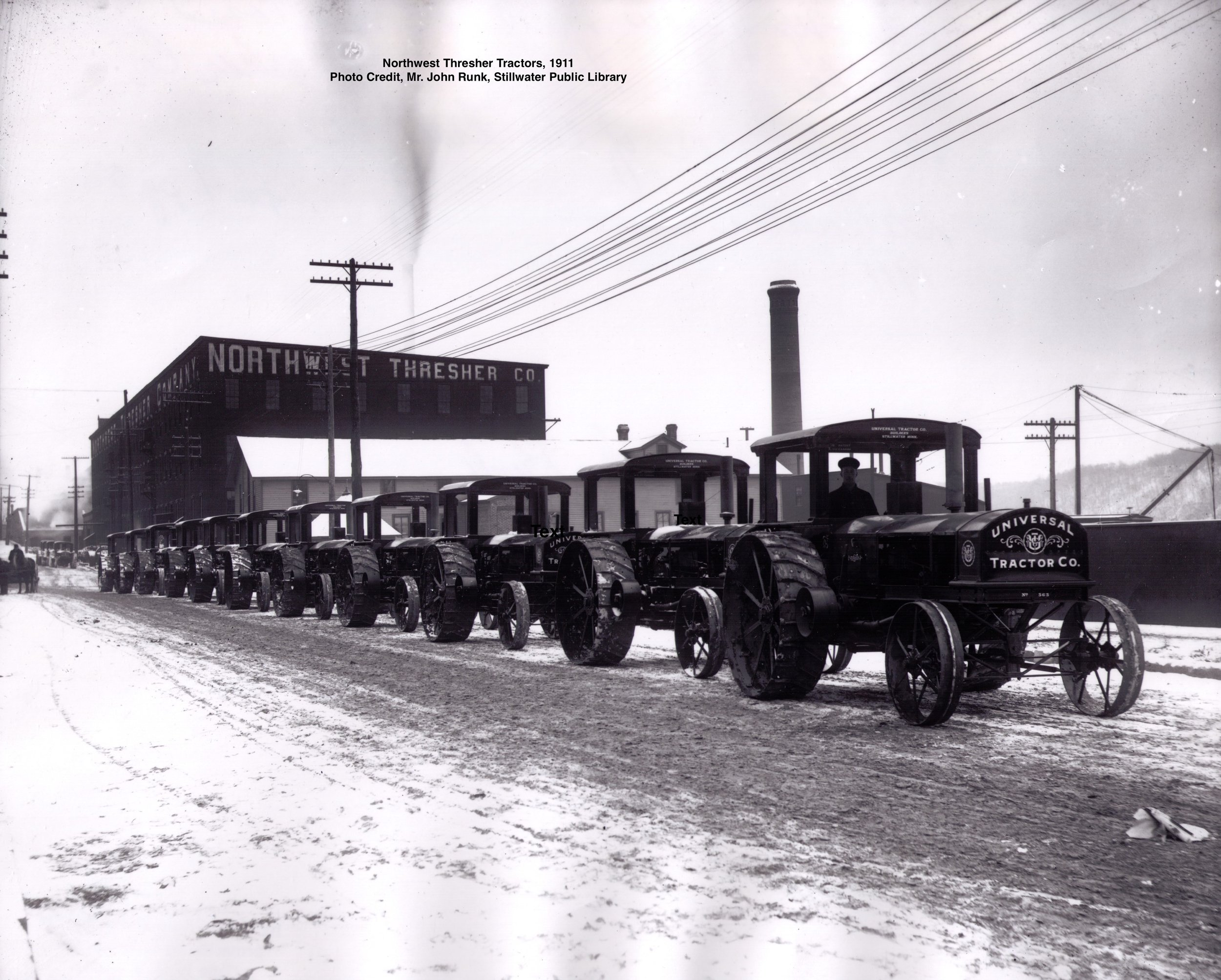 This is a Tractor Parade from 1911. Photo credit, Mr. John Runk, courtesy of the Stillwater Public Library.