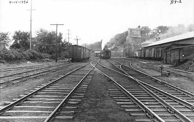 This photo is dated 1926 and shows the Commander Elevator in the background and The Freight House on the right. The railroad was a busy enterprise in Stillwater at this time. Photo credit is Mr. John Runk, courtesy of the Stillwater Public Library.