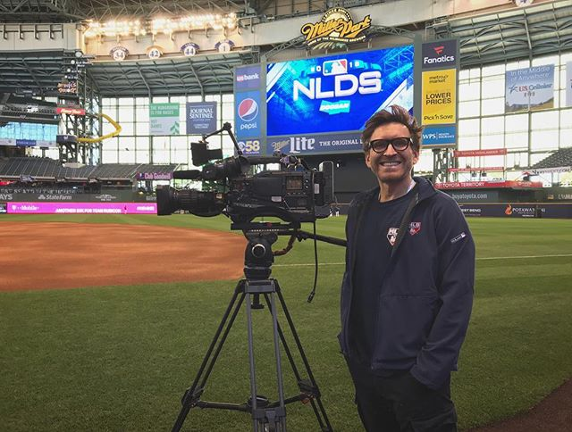 Shooting at the MLB playoffs in Milwaukee! 🎥⚾️💫
