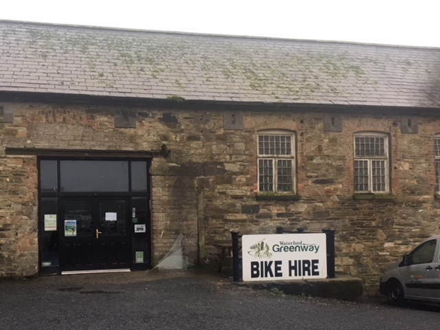 Bike-friendly business along the Waterford Greenway