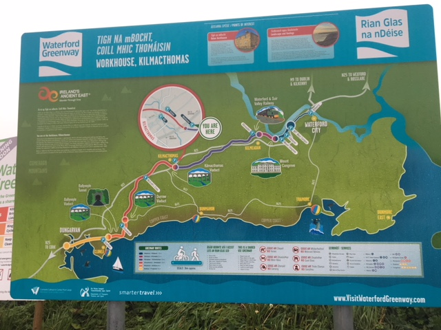 Finding one's way along the Waterford Greenway