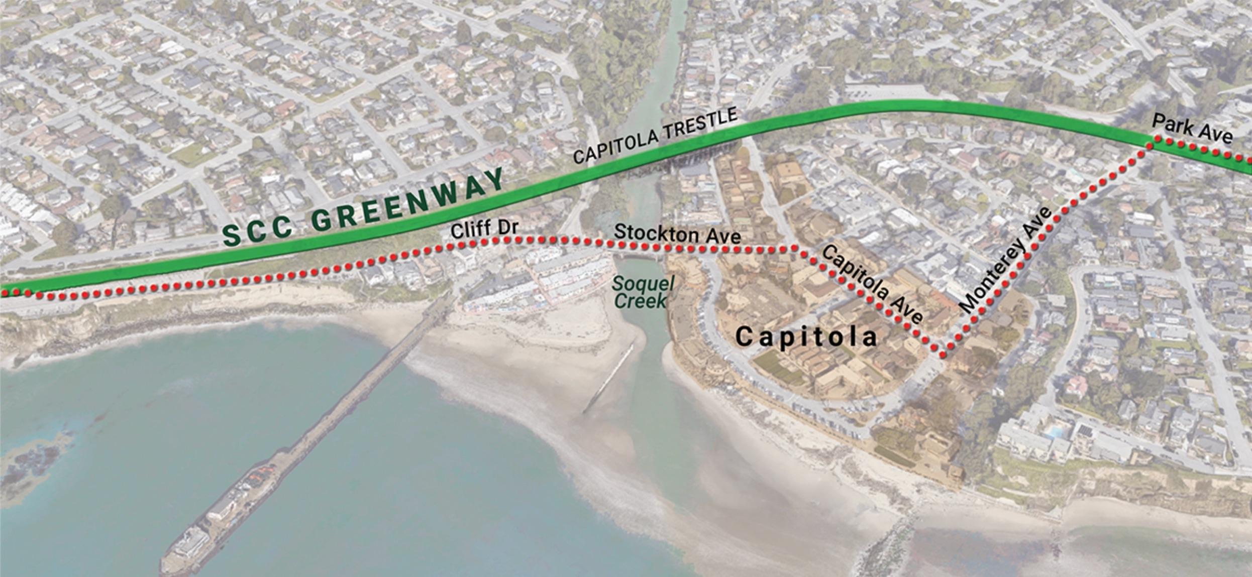 Capitola Trestle — Rail-with-Trail Detour