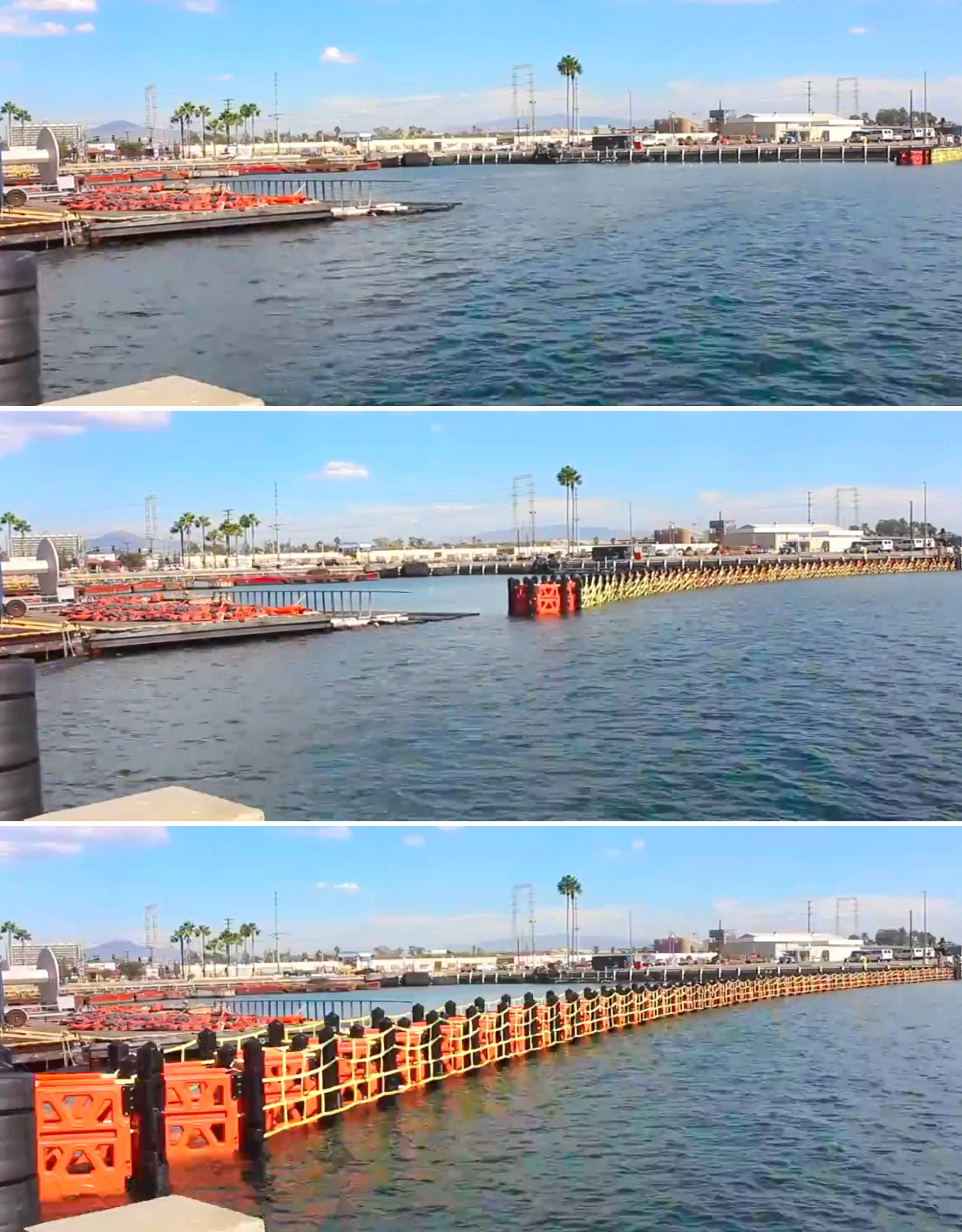 HALO ORION® and GUARDIAN® Automatic Retractable Barrier Systems collapse along their length.