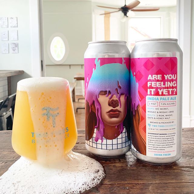Hey man.... are you feeling it yet? ⠀⠀⠀⠀⠀⠀⠀⠀⠀ Tomorrow we release the newest IPA in our repertoire, Are You Feeling It Yet? Hopped with Vic Secret, Mosaic, and Mosaic-Cryo, this beauty has tasting notes of the freshest squeezed orange jüice, Riesling vino, and a balanced kiss of earthy pine. It's also Taquito Tuesday so if you buy a pint you'll get a taquito and salsa on us. 7% ABV, $17/4 pack 🍬 Illustration by Alexandria Hall.