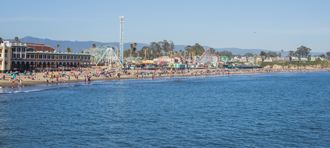 The view from the pier.