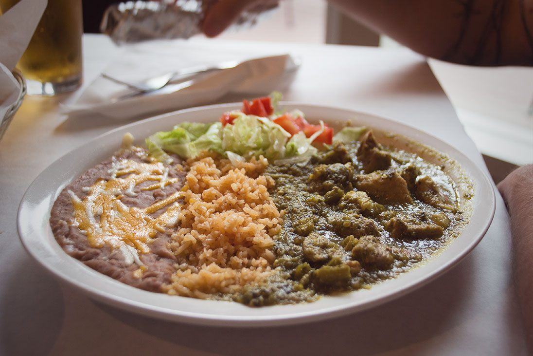 After the caves, we headed to Angel's Camp for some lunch. We stopped at Angel's Mexican Kitchen. It was pretty good for Mexican food up here. I believe this was the chile verde