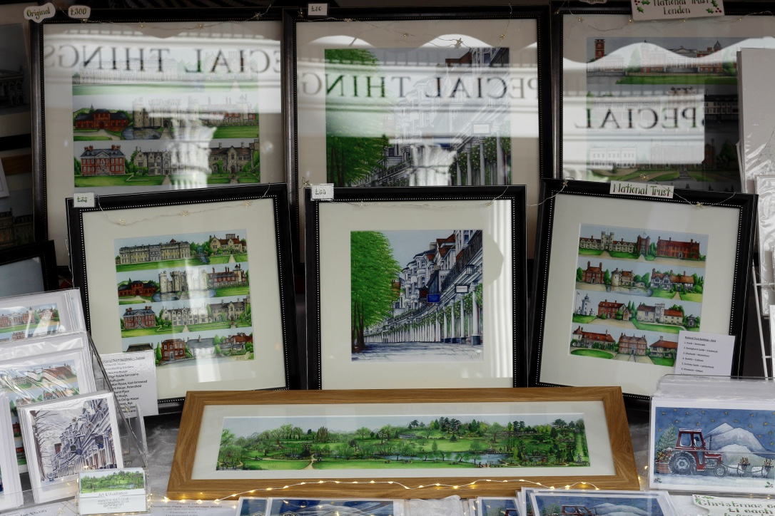 Giclee prints by Elaine Gill at The Pantiles Christmas Market.
