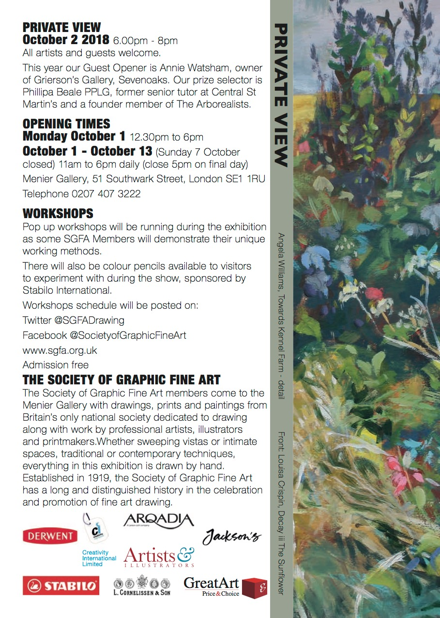 Opening times for Draw 18 exhibition.