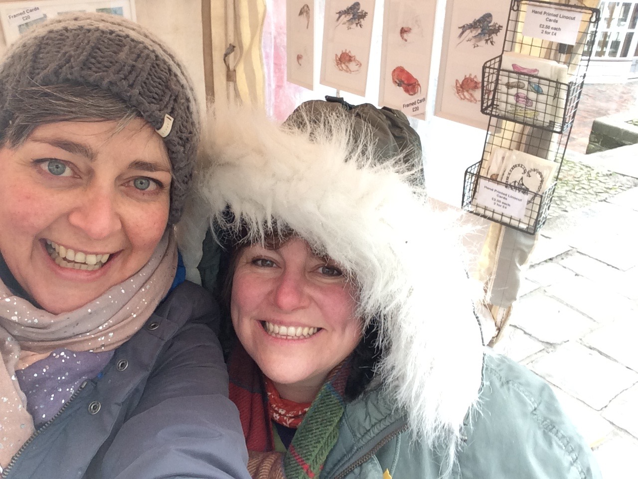 Tunbridge Wells Artists - Lucy Clayton & Elaine Gill at The Pantiles Christmas Market