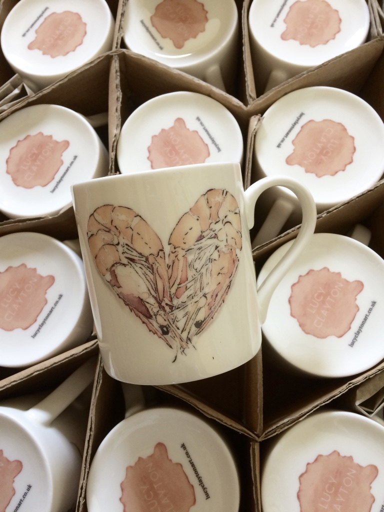Prawn Heart mugs