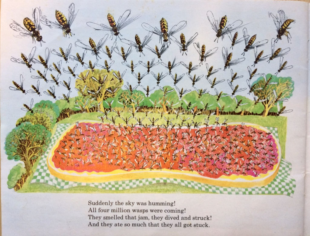 Illustration from The Giant Jam Sandwich by John Vernon Lord, verses by Janet Burroway