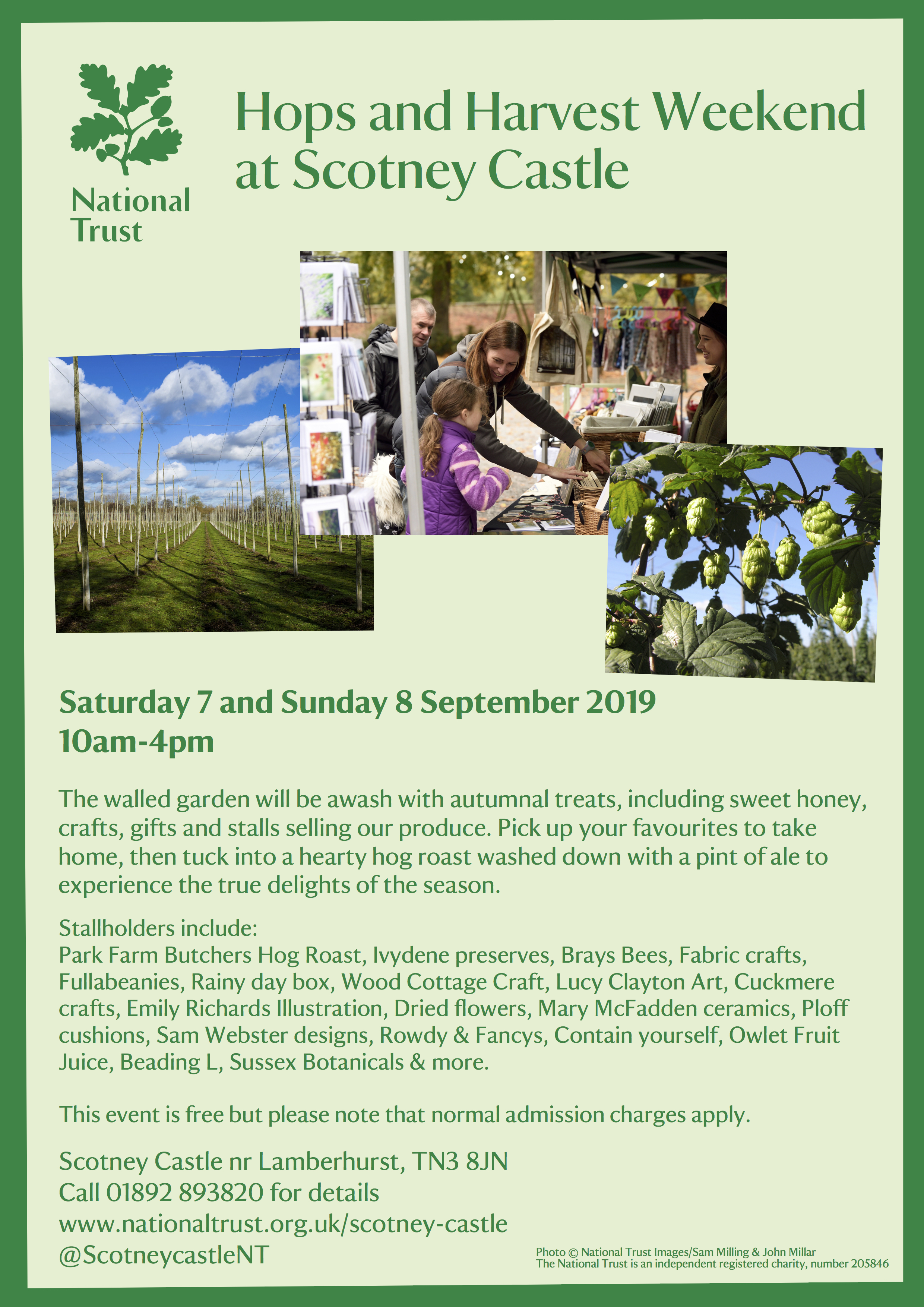 Hops and Harvest Weekend at Scotney Castle in Kent